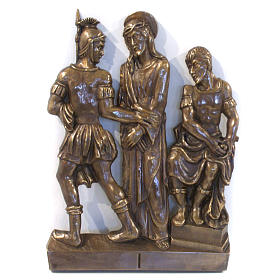 Via Crucis in bronzed brass, 15 stations s1