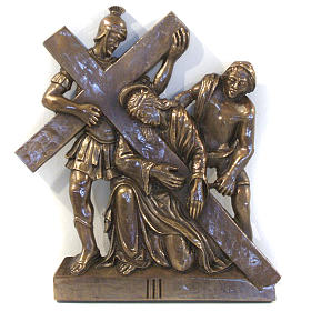 Via Crucis in bronzed brass, 15 stations s3