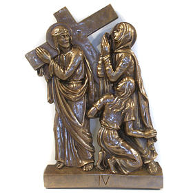 Via Crucis in bronzed brass, 15 stations s4