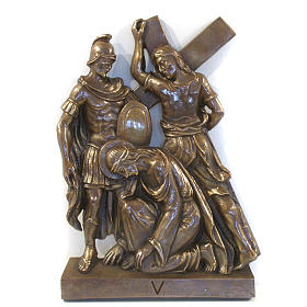 Via Crucis in bronzed brass, 15 stations s5