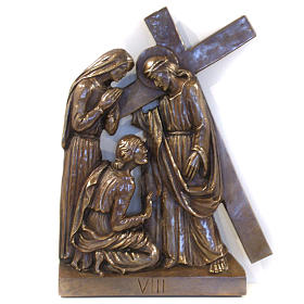 Via Crucis in bronzed brass, 15 stations s8