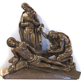 Via Crucis in bronzed brass, 15 stations s11
