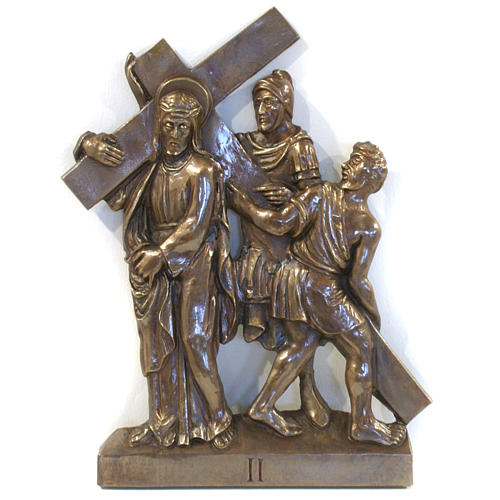 Via Crucis in bronzed brass, 15 stations 2