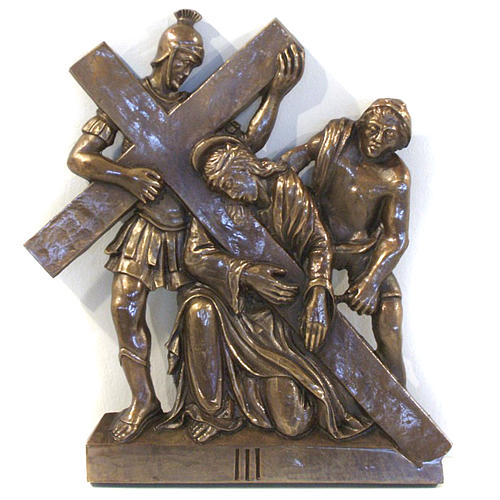 Via Crucis in bronzed brass, 15 stations 3