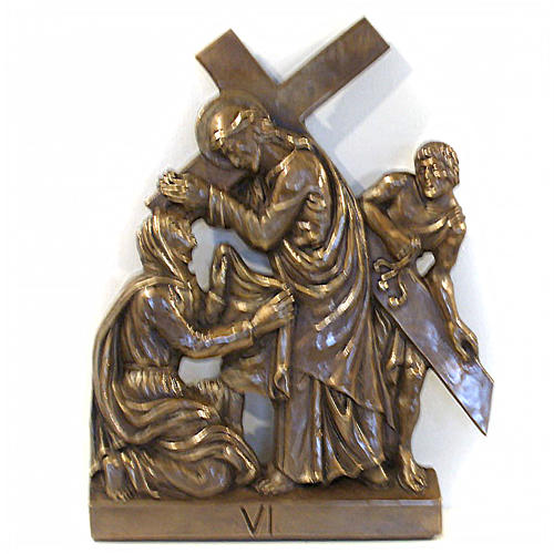 Via Crucis in bronzed brass, 15 stations 6