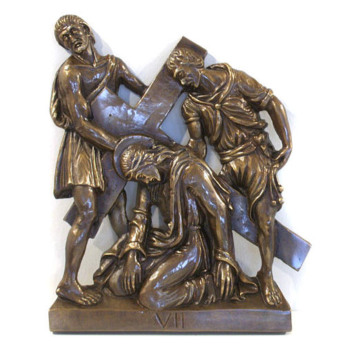 Via Crucis in bronzed brass, 15 stations 7
