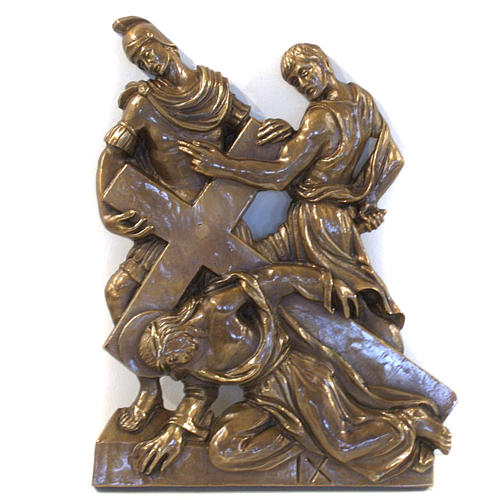 Via Crucis in bronzed brass, 15 stations 9