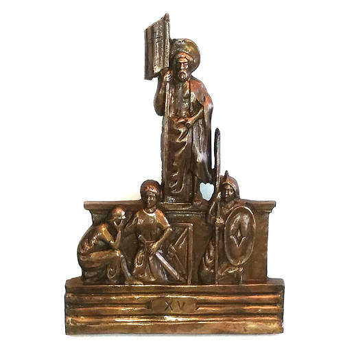 Via Crucis in bronzed brass, 15 stations 15