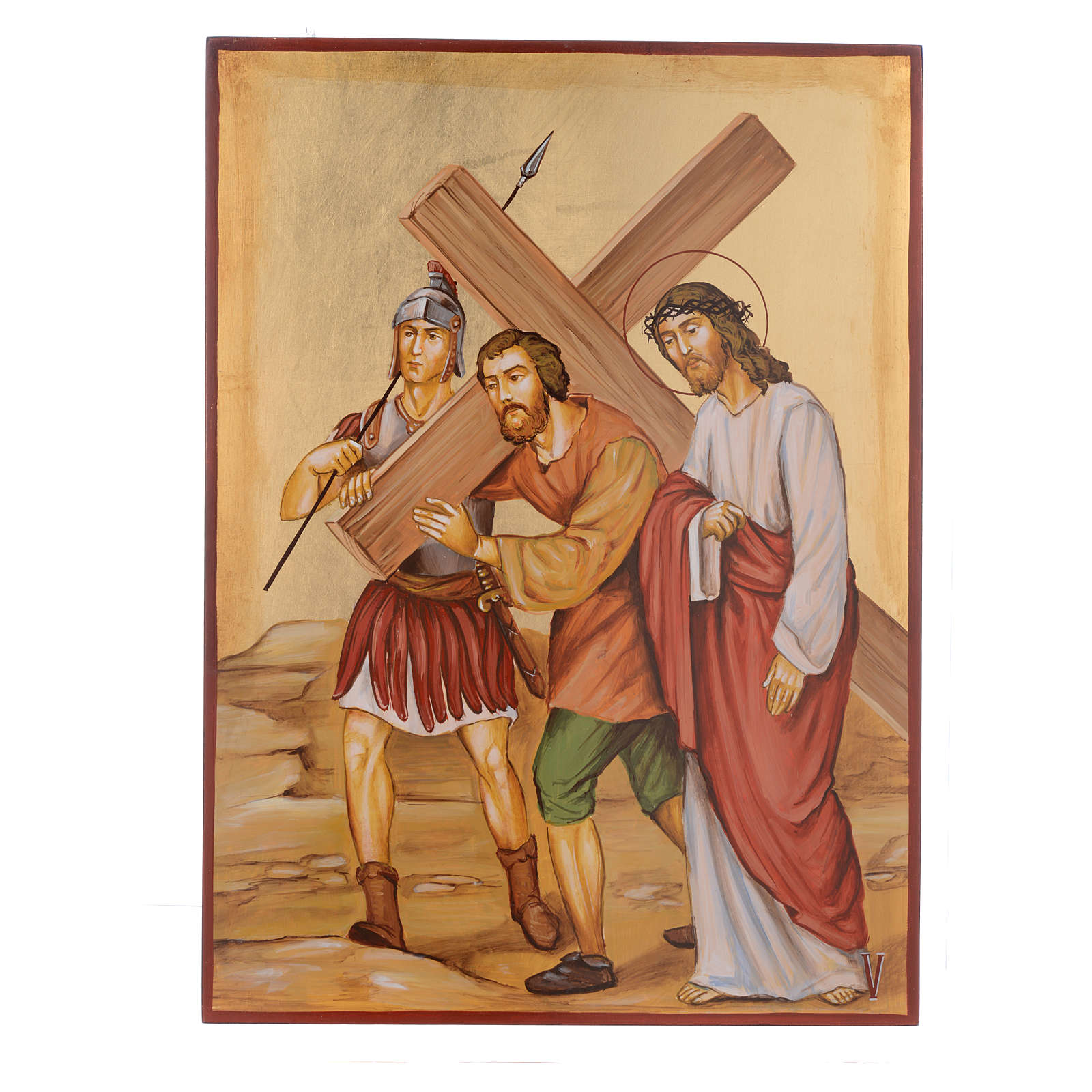 Way of the cross with 15 stations, icons are hand painted in Romania 4