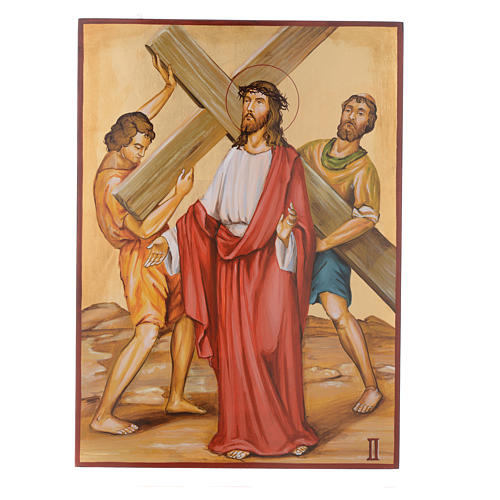 Way of the cross with 15 stations, icons are hand painted in Romania 2