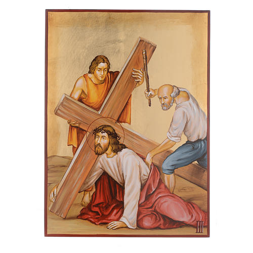 Way of the cross with 15 stations, icons are hand painted in Romania 3