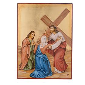 Vía Crucis 15 Estaciones iconos pintados a mano 44x32 cm Rumania s4