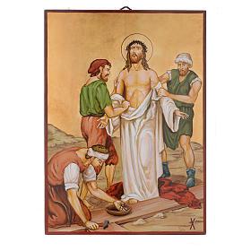 Vía Crucis 15 Estaciones iconos pintados a mano 44x32 cm Rumania s10