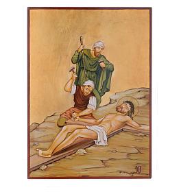 Vía Crucis 15 Estaciones iconos pintados a mano 44x32 cm Rumania s11