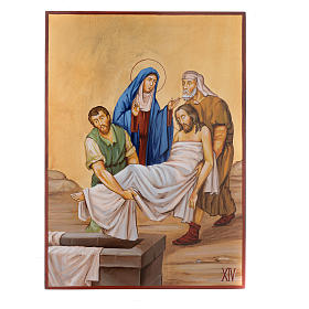 Vía Crucis 15 Estaciones iconos pintados a mano 44x32 cm Rumania s14
