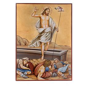 Vía Crucis 15 Estaciones iconos pintados a mano 44x32 cm Rumania s15