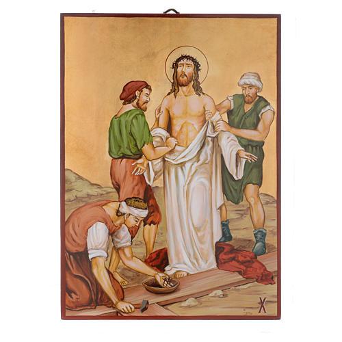 Vía Crucis 15 Estaciones iconos pintados a mano 44x32 cm Rumania 10