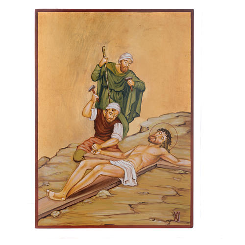 Via Crucis 15 Stazioni icone dipinte a mano 44x32 cm Romania 11