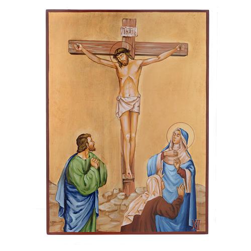 Via Crucis 15 Stazioni icone dipinte a mano 44x32 cm Romania 12