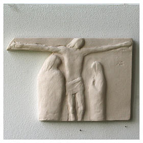 Way of the cross with handmade tiles 20x294cm, 15 stations s2
