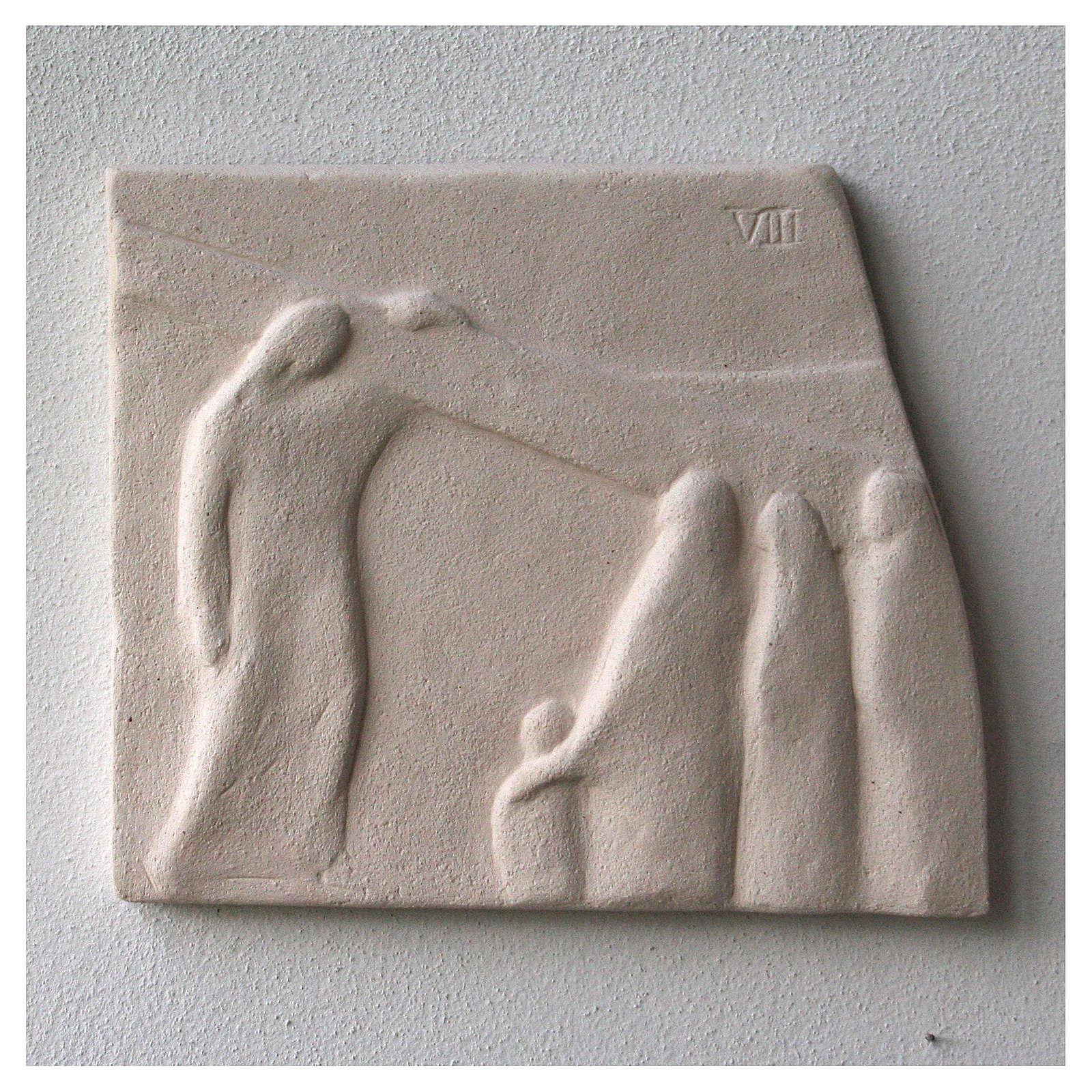 Vía Crucis cuadros irregulares 20x294 cm arcilla Centro Ave 4
