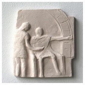Vía Crucis cuadros irregulares 20x294 cm arcilla Centro Ave s5