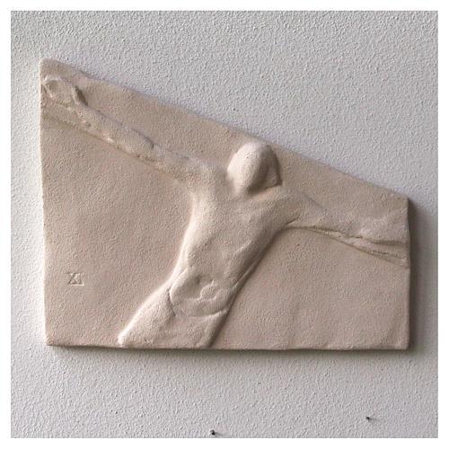 Vía Crucis cuadros irregulares 20x294 cm arcilla Centro Ave 1