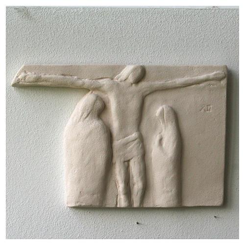 Vía Crucis cuadros irregulares 20x294 cm arcilla Centro Ave 2