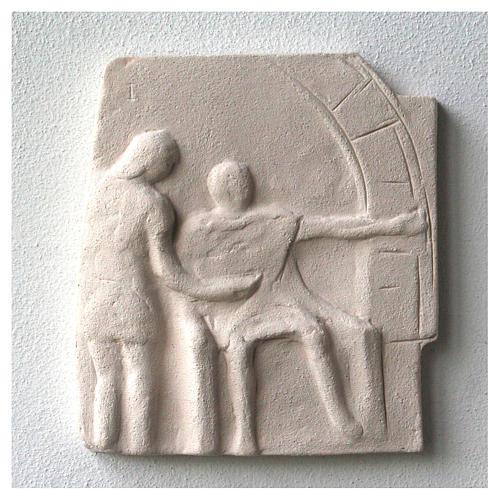 Vía Crucis cuadros irregulares 20x294 cm arcilla Centro Ave 5