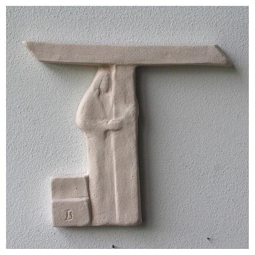 Vía Crucis cuadros irregulares 20x294 cm arcilla Centro Ave 6
