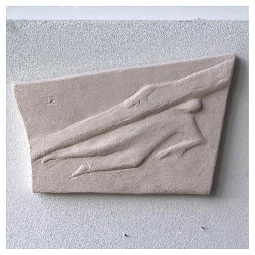 Vía Crucis cuadros irregulares 20x294 cm arcilla Centro Ave 9