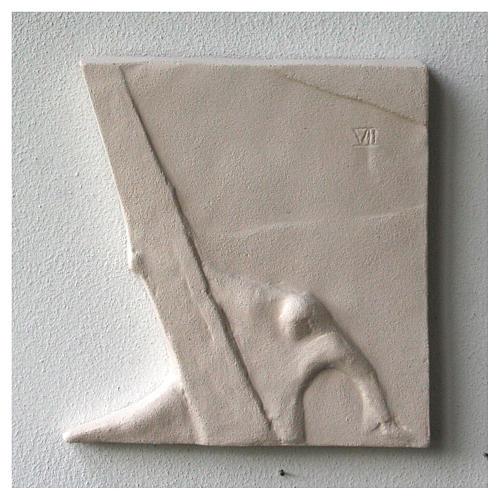 Vía Crucis cuadros irregulares 20x294 cm arcilla Centro Ave 12