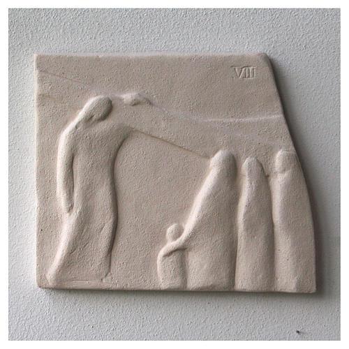 Vía Crucis cuadros irregulares 20x294 cm arcilla Centro Ave 13