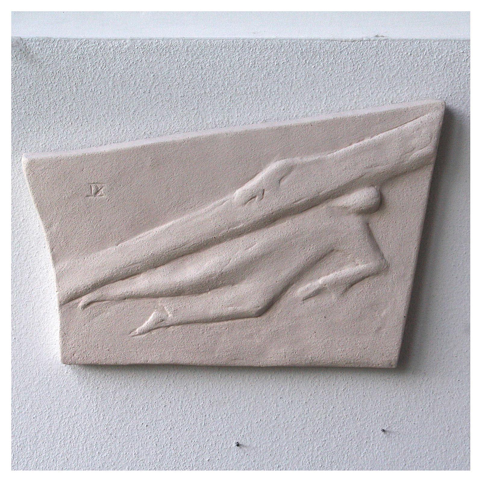 Chemin croix carreaux irréguliers 20x294 cm argile Ave 4