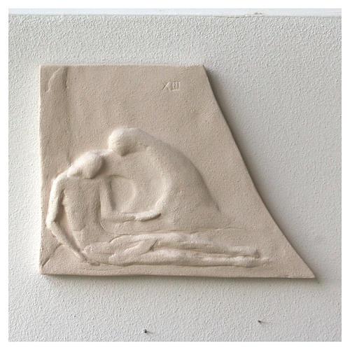 Chemin croix carreaux irréguliers 20x294 cm argile Ave 3