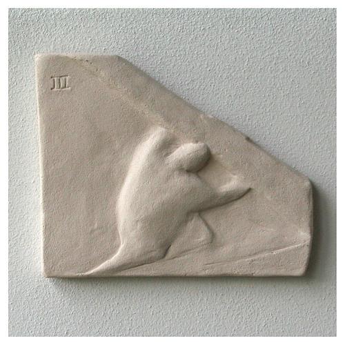 Chemin croix carreaux irréguliers 20x294 cm argile Ave 7