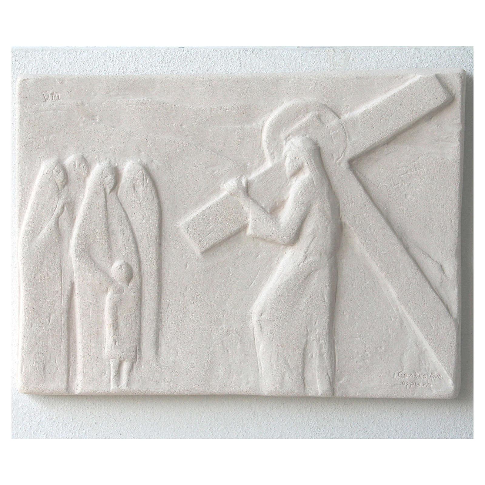 Vía Crucis cuadros regulares 34x25 cm arcilla Centro Ave 15 estaciones 4