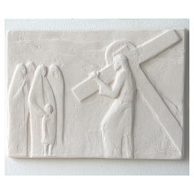 Vía Crucis cuadros regulares 34x25 cm arcilla Centro Ave 15 estaciones s11