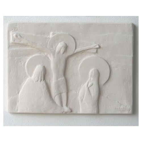 Vía Crucis cuadros regulares 34x25 cm arcilla Centro Ave 15 estaciones 1