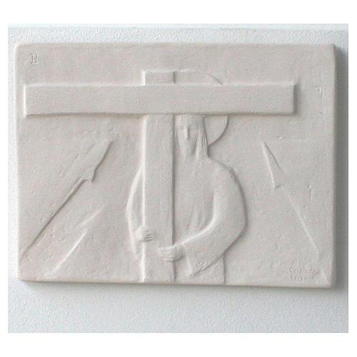 Vía Crucis cuadros regulares 34x25 cm arcilla Centro Ave 15 estaciones 5