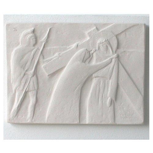 Vía Crucis cuadros regulares 34x25 cm arcilla Centro Ave 15 estaciones 9