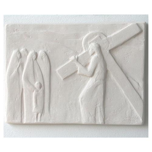 Vía Crucis cuadros regulares 34x25 cm arcilla Centro Ave 15 estaciones 11