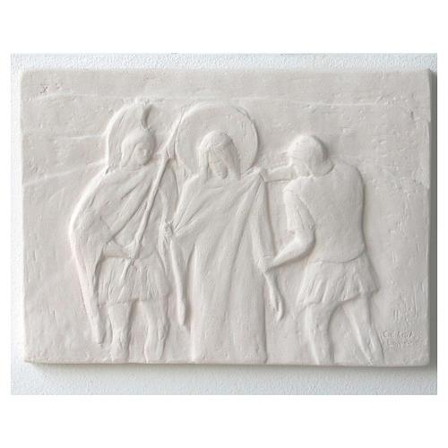 Vía Crucis cuadros regulares 34x25 cm arcilla Centro Ave 15 estaciones 13
