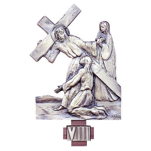 Via Crucis 14 stazioni ottone fuso 20x25 cm 1