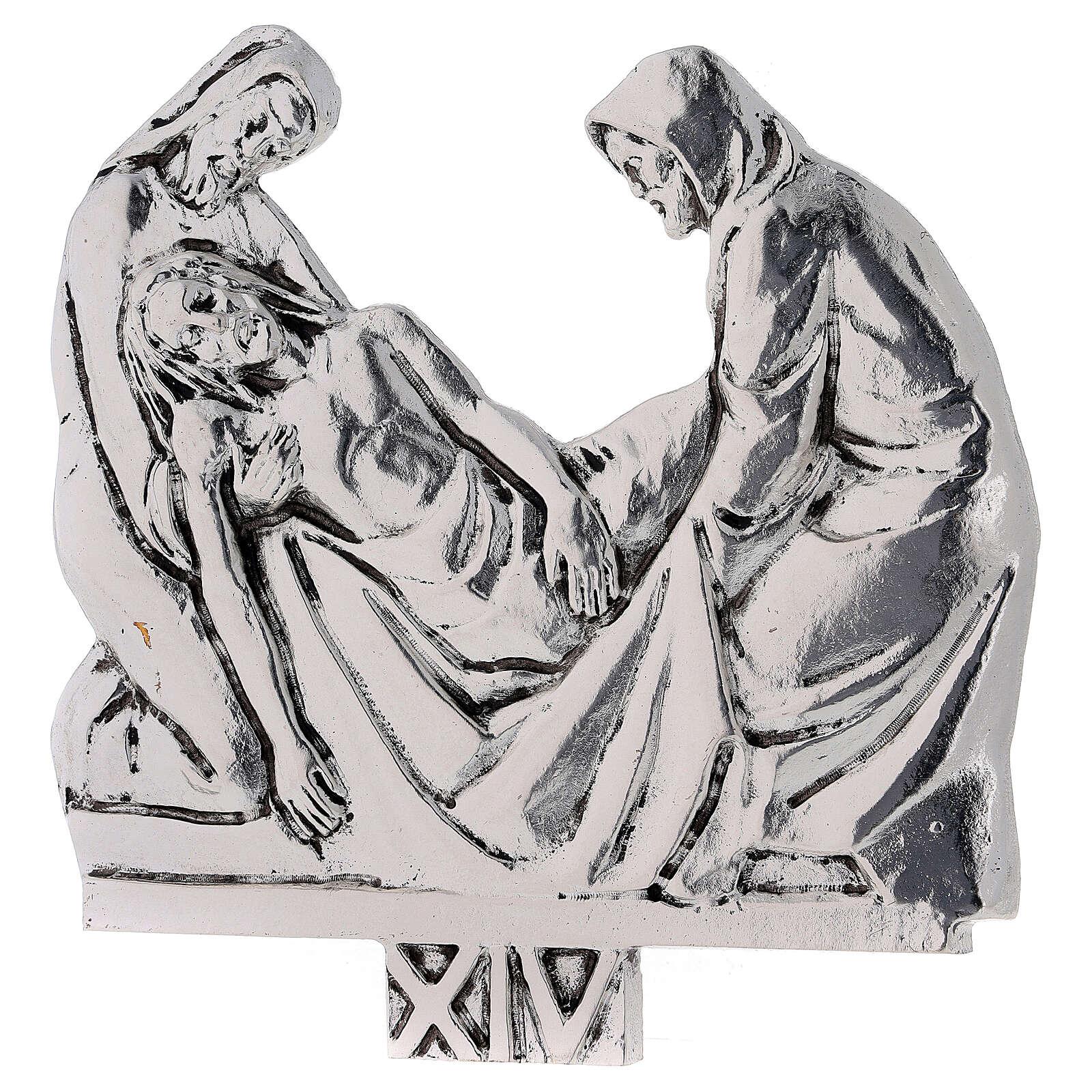 Vía Crucis 15 estaciones latón fundido 17 x 20 cm 4