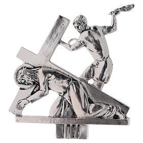 Vía Crucis 15 estaciones latón fundido 17 x 20 cm s3