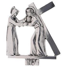 Vía Crucis 15 estaciones latón fundido 17 x 20 cm s4