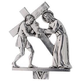 Vía Crucis 15 estaciones latón fundido 17 x 20 cm s5