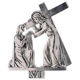 Vía Crucis 15 estaciones latón fundido 17 x 20 cm s6