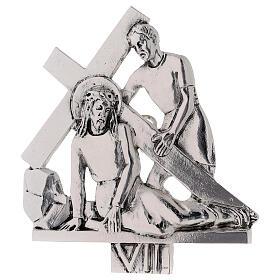 Vía Crucis 15 estaciones latón fundido 17 x 20 cm s7